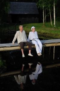 Puhkehetk: Helger koos venna Viljariga